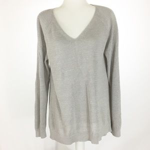 LOFT Relaxed V Neck Sweater NWT Size L